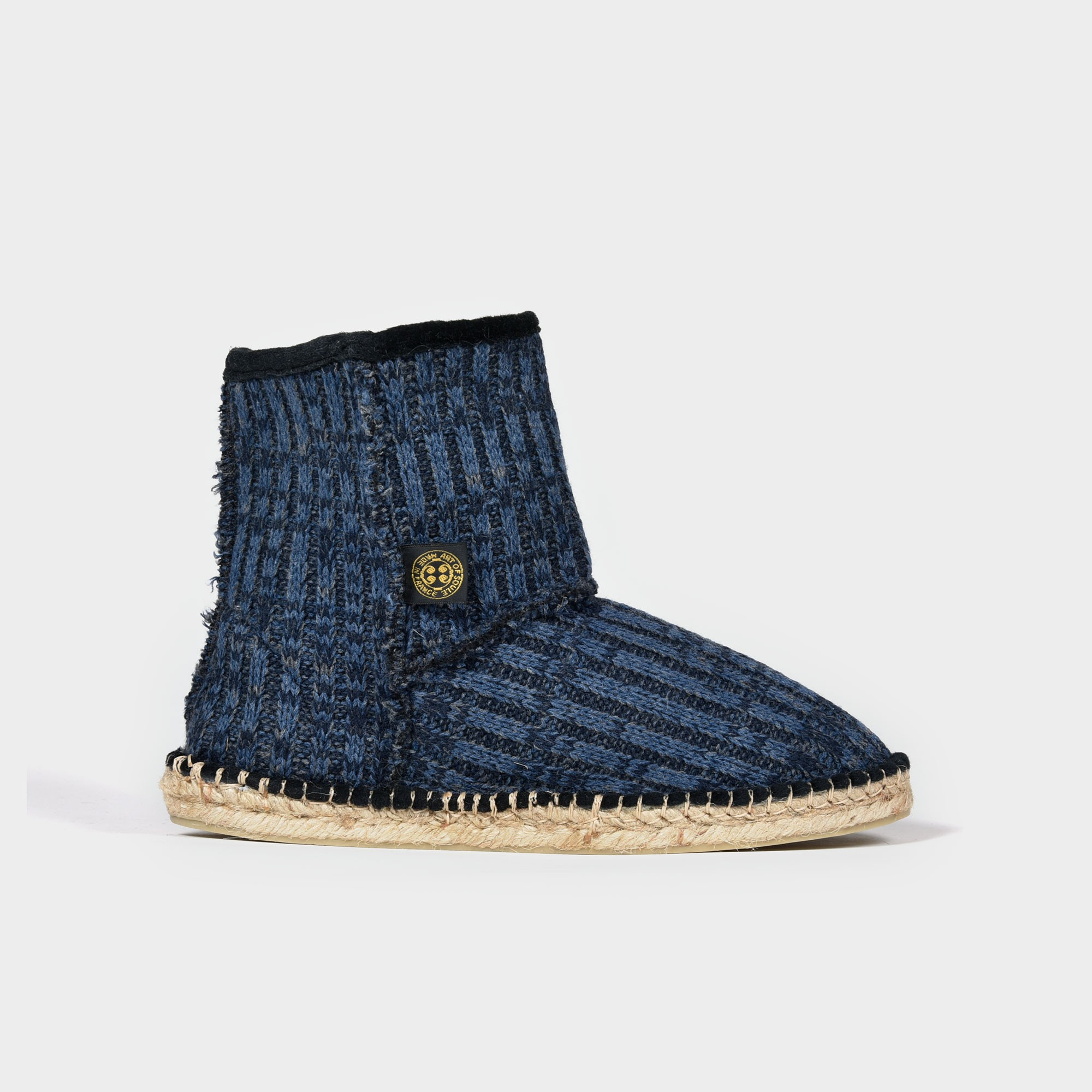 Espadrille Wool blue boots