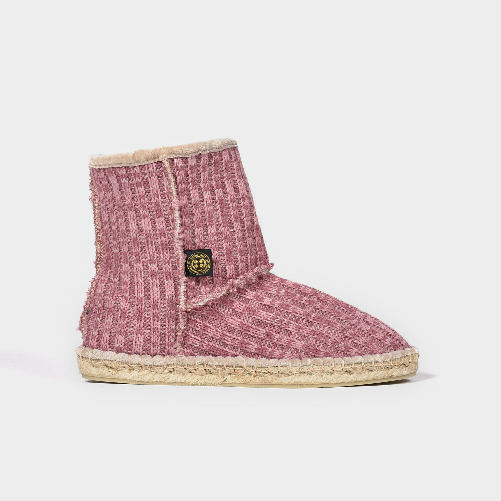Espadrille Wool pink boots