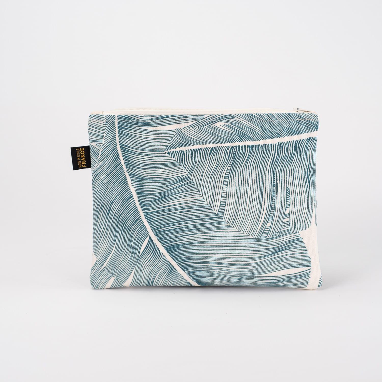 Espadrille Grande pochette Leaf Blue